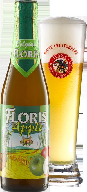 Floris apple pohár mögötte körbevágva copy