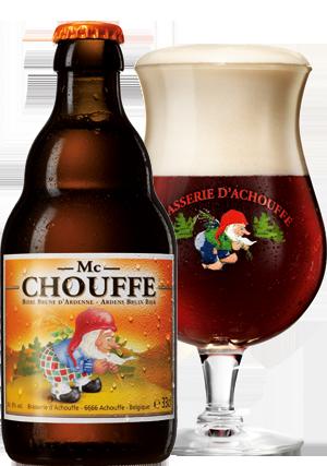 Mc Chouffe üveg és Pohár hátul Körbevágva copy